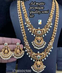 South Indian Temple Jewelry Necklace Wedding Bridal Gold Plated Temple Jewellery