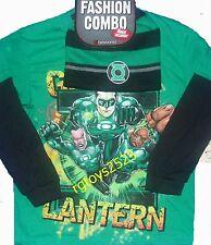 Green Lantern Size 10-12 Large Long Sleeve T-Shirt Combo w Beanie New Childs
