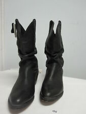 New MENS BLACK LEATHER BOOTS Size 11D  SANTE FE BOOT CO  SFM7101 $199.99