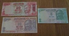 India Currency Gandhi  5 10 20  Rupees 12 Crisp Uncirculated Bank Notes 4 each