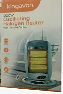 HALOGEN  OSCILLATING HEATER WITH REMOTE CONTROL 3 HEAT SETTINGS 1200W