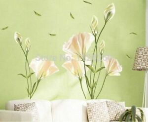 Large Flower Wall Stickers Home Decor Peel And Stick Removable PVC Art Wall Deca