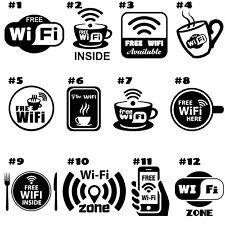 Signo de Internet Wifi gratuito cafetería, bar, club, oficina, la tienda, Vinilo Calcomanía/Pegatina pub