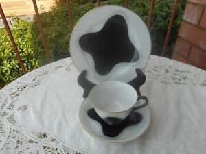 VINTAGE NORITAKE TRIO CUP SAUCER PLATE 1940s