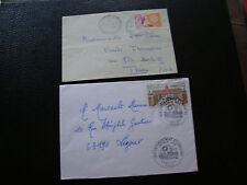 FRANCE - 2 enveloppes 1er jour 1961/1973 (cy70) french
