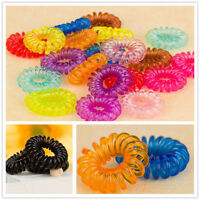 10PCS Elastic Rubber Hairband Phone Wire Hair Tie Ring Rope Band Ponytail girls