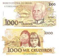 Brazil 1000 Cruzeiros ND (1991) P-231c Banknotes UNC