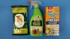 Pet stain and odor remover, Arm & Hammer w/Oxi clean carpet cleaner & wipes