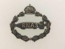 Vintage Britain/British WWI R.N.A.S. Air Ship or Airship Silver cap badge