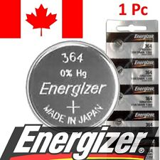 1 Pc Energizer 364 Watch Battery, 1.55V SR621SW Silver Oxide Batteries