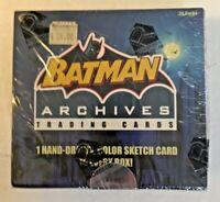Batman Archives 1 Sketch/ Box-Factoy Sealed Card Box-Rittenhouse 2008 6899/7500