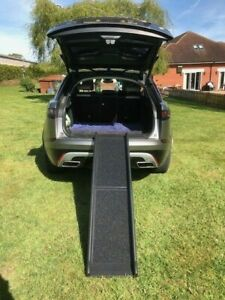Dog  Pet Ramp Car Vehicle Lightweight Folding Non Slip Bi Fold Transport Travel