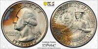 1976-S WASHINGTON QUARTER SILVER BICENTENNIAL PCGS MS67 UNC COLOR BU TONED (DR)