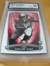 CARLOS HYDE 49ERS 2014 BOWMAN ROOKIE RC # 14 GRADED 10