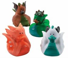 """Dragon Rubber Duckies  (12 Piece) 2"""" Medieval Party Supplies"""