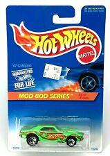1996 Hot Wheels #399 Mod Bod Series 4/4 '67 CAMARO Green w/Open Steering w/5 Sp