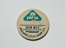 Calgary (Alberta CANADA) Dairy Bottle Milk Cap - Palm Dairies Ltd - Pint-Size