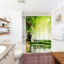 180 x 180cm Zen EAU BAMBOU 3D Imprimé Espace étanche salle de Bain Rideau douche