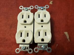 Lot of 2 Pass & Seymour 15A 125V Wall Outlet Off White Color