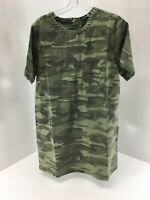 Boohoo Womens Jessie Camo Denim Shift Dress US 10/UK 14 NWT
