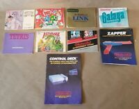 Original Nintendo NES Game Console Manual Lot Bundle- Kings Knight Bubble Bubble