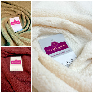 Cuddle Soft Sherpa fleece faux lambswool look clothing craft Fabric M1561 Mtex
