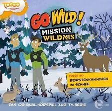 GO WILD!-MISSION WILDNIS - HÖRSPIEL 20: BORSTENKANINCHEN IM SCHNEE  CD NEU