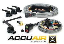 AccuAir eLevel w/ Rocker Switch Air Bag Suspension 4 Corner Control Kit