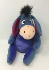 Disney Eeyore Donkey Soft Toy Plush Cuddly Teddy Winnie The Pooh Velcro Tail