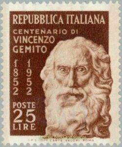 EBS Italy 1952 - Vincenzo Gemito, sculptor - Unificato 704 MNH**