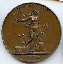 Louis XVIII Médaille par Jeuffroy & Andrieu Départ de Louis XVIII de Paris 1815