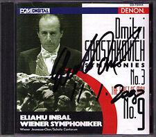 Eliahou Inbal SIGNED Shostakovich SYMPHONY N. 3, 9 Giappone DENON CD Shostakovich
