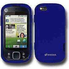 AMZER Silicone Skin Jelly Case for Motorola CLIQ XT MB501 - Blue