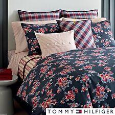"Tommy Hilfiger Rustic Floral Tartan Throw Pillow 18"" Square Nip $85."