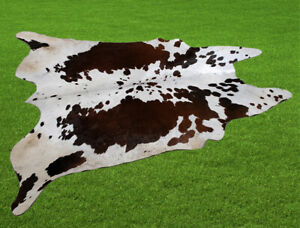 """100% New Cowhide Rugs Area Cow Skin Leather (53"""" x 54"""") Cow hide SA-7416"""