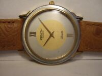 Good Vintage Mid Size Zenith Two Tone Silhouette Swiss Watch - NO CASE BACK!