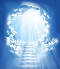 """STUNNING FANTASY STAIRWAY TO HEAVEN/CLOUDS CANVAS PICTURE WALL ART LARGE 20x30"""""""