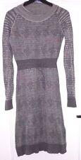Jolie robe pull gris bleu taupe laine et coton DIESEL T XS = 36 TBE