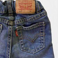 LEVI'S 514 Straight Leg Medium Wash Stretch Jeans Boys Toddler 24 M Distressed