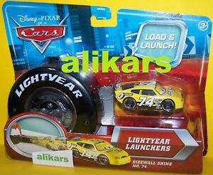 Lightyear Launchers SIDEWALL SHINE Starter + Piston Cup racer #74 Disney Cars