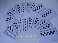 20 Starchem Car Sprayer Colour Check Panels Metal Spray Out Card For Paint Match