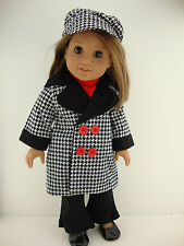 A 5 Pc Set in Black and White Checks Complete with Pants Shirt Jacket and Matchi