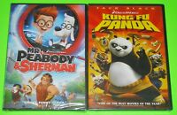 Kid DVD Lot - Mr. Peabody & Sherman (New) Kung Fu Panda (New)