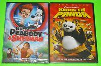 Kid DVD Lot - Mr. Peabody & Sherman (New) Kung Fu Panda (New)