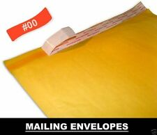 100 #00 5'' x 10'' High Quality Kraft Bubble Mailer