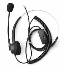 Voistek, Comdio Ch103Va2 Corded Call Center Phone Headset, Mute Control Aastr