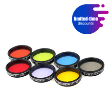 """SVBONY1.25"""" Eyepieces Filter Set Colored Planetary+Moon Filter Kit for Telescope"""