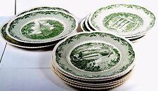 Set of 11 Royal Cauldon England Dartmouth College Dinner Plates