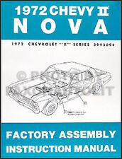 1972 Chevy Nova and Nova SS Assembly Manual BOUND 72 Chevrolet Factory