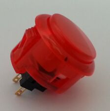 Japan Sanwa Clear Red Buttons x 1 pc OBSC-30-CR Video Arcade Parts